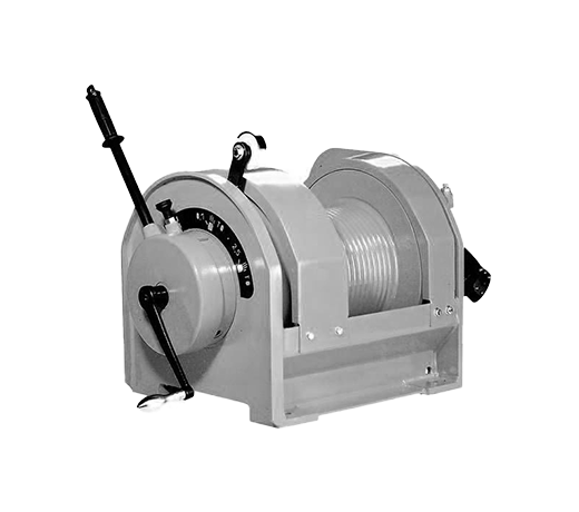 Rescue boat winches